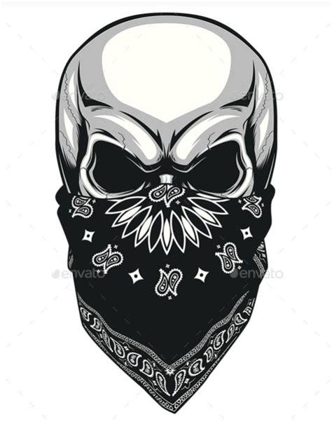 skull bandana tattoo designs best 25 bandana ideas on gangster