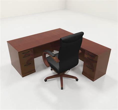 office desk ls traditional 4pc traditional modern l shaped executive office desk set