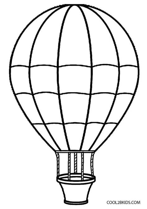 coloring page for hot air balloon printable hot air balloon coloring pages for kids