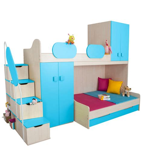 Play Bunk Bed In Blue Maple Finish By Alex Daisy By Alex Play Bunk Beds