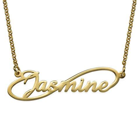 cadenas con nombre chapa de oro collar con nombre estilo infinito en chapa de oro 18k