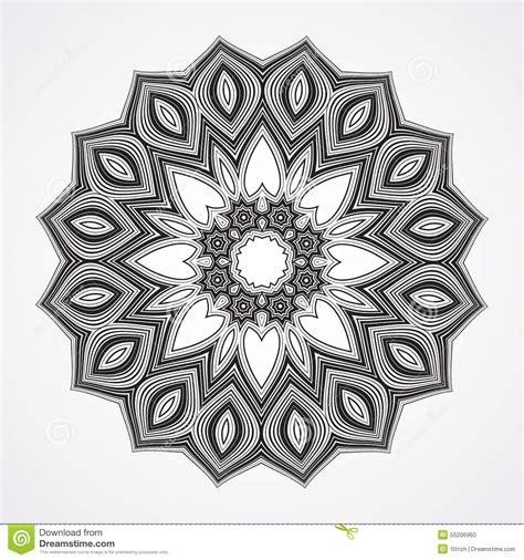 mandala tattoo vector ethnic fractal mandala stock vector image of card frame
