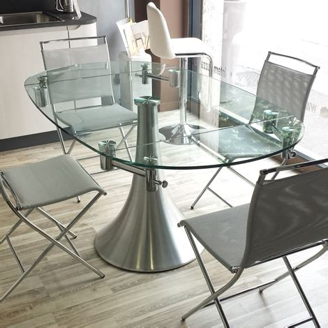 tavoli rotondi in cristallo tavolo flute allungabile vetro tavoli a prezzi scontati