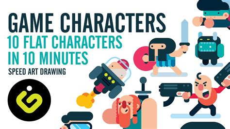 video game tutorial design game design 10 game characters in 10 minutes speed