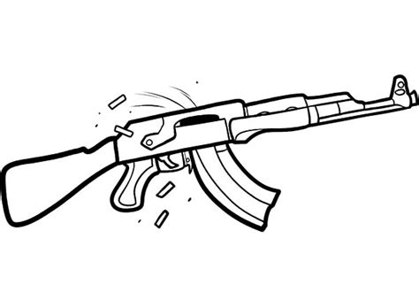 coloring page of a gun gun coloring pages the hand gun machine gun etc