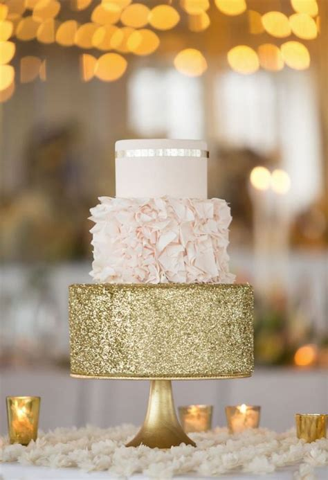 Things Glittery And Fab by 24 Fab Glittery And Sparkling Wedding Cake Ideas For 2016