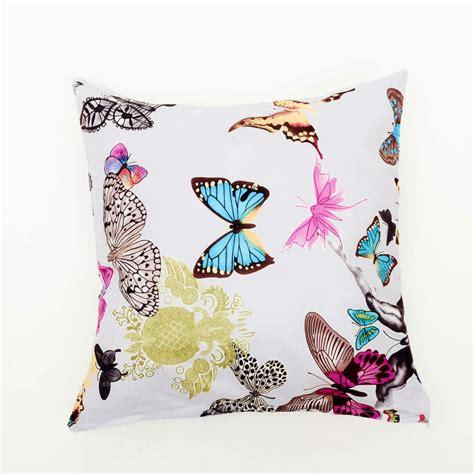 Sofa Impressa borboleta impresso impresso cl 225 ssico almofadas