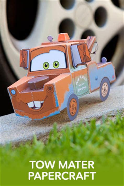Lightning Mcqueen Papercraft - tow mater 3d papercraft disney australia cars