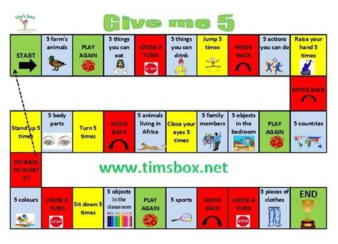 Classroom Games Give Me 5 R 233 Vision Vocabulaire Et Gages