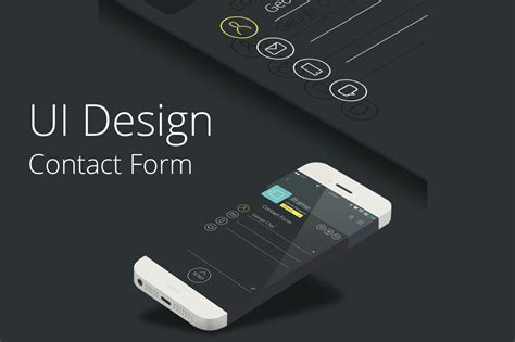 design elements phone number contact form ui design web elements on creative market