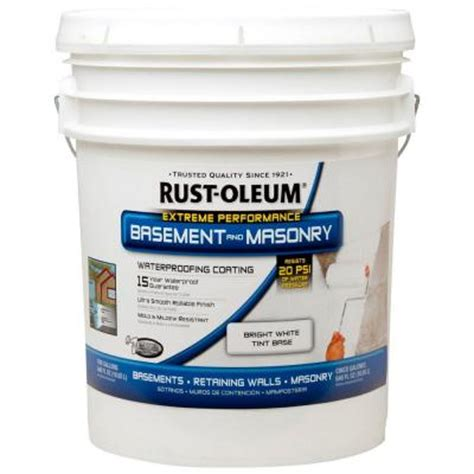 home depot paint prices 5 gallon rust oleum 5 gal waterproofing paint 260389 the home depot