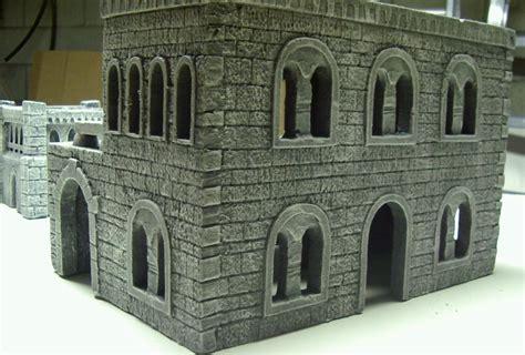 castle styrofoam block home rpg diorama scenery deciduous trees