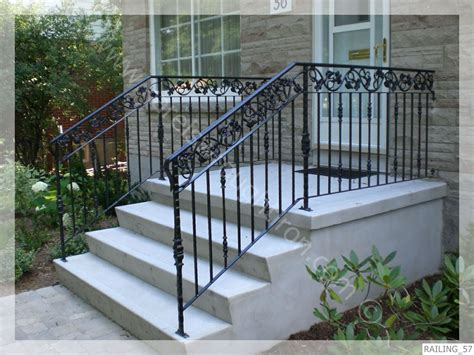 Rod Iron Banister by Pin Iron Railings On