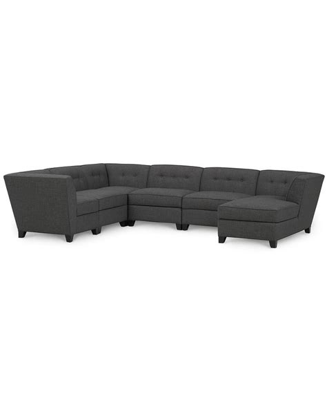 harper fabric 6 piece modular sectional sofa harper fabric 6 piece modular sectional with chaise