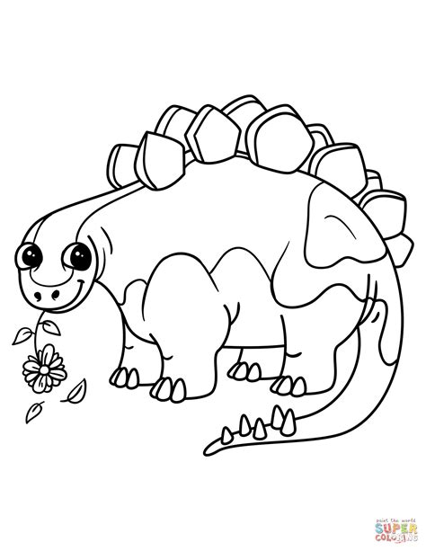 coloring pages dinosaurs stegosaurus cute stegosaurus coloring page free printable coloring pages