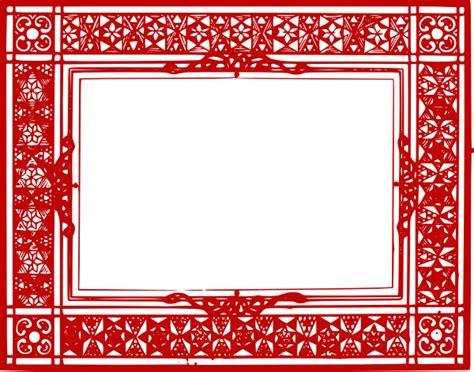 design frame online red border 2 clip art at clker com vector clip art
