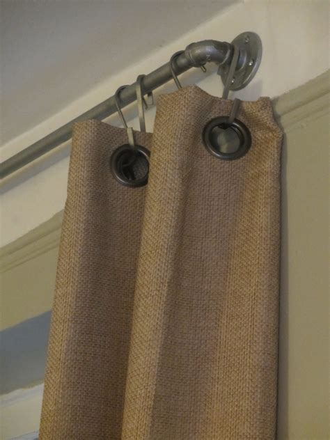 industrial curtain hardware that looks familiar diy west elm industrial pipe rods