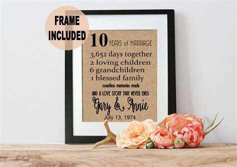 10th Anniversary Gift Ideas For by 1000 Ideas About 10th Anniversary Gifts On
