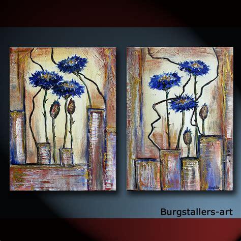 bäder modern bilder ba acrylbild abstrakt modern original gem 228 lde kornblume