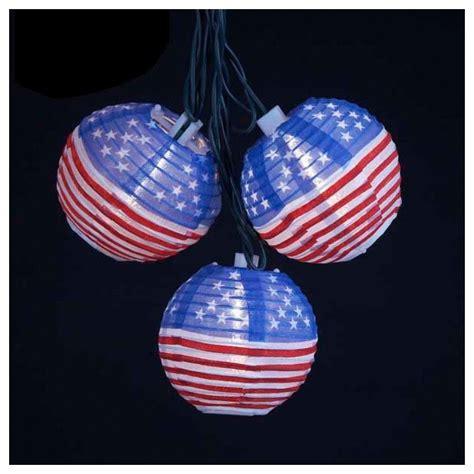 ten american flag lantern party string lights