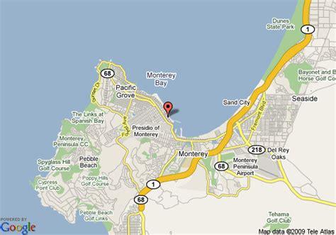 map monterey ca map of monterey bay inn monterey