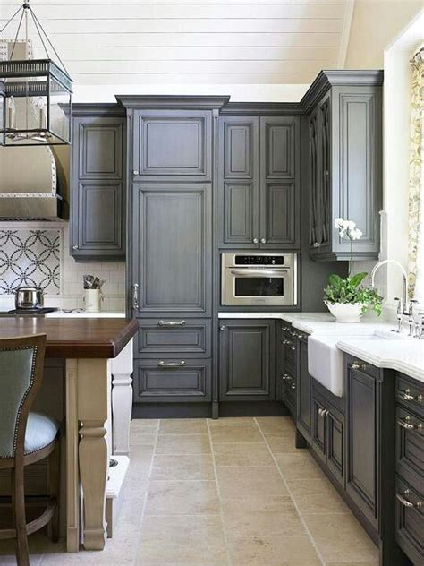 gray blue kitchen cabinets smokey blue kitchen cabinets with creamy walls i wonder what it would look like with blue