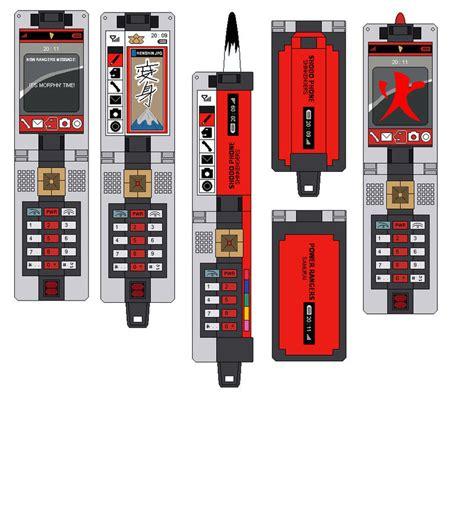 How To Make A Paper Power Ranger Sword - shodo phone and samuraizer by benfan5 on deviantart