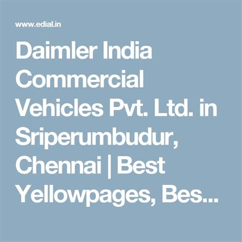 daimler india commercial vehicles pvt