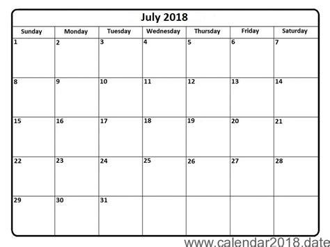 printable calendar 2018 july free printable calendar july 2018 free printable
