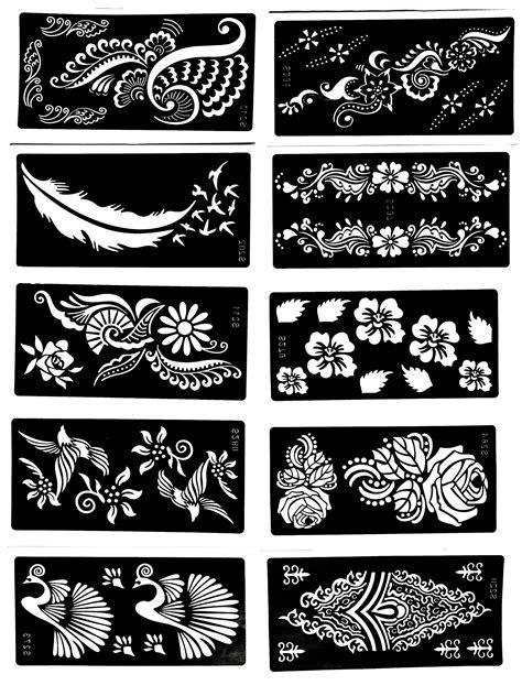 where can you get henna tattoo kits stencil 10 sheet henna designs temporary