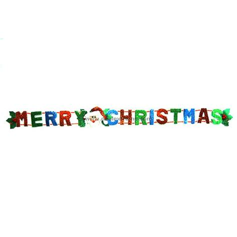 cheap festive santa banner merry christmas theme
