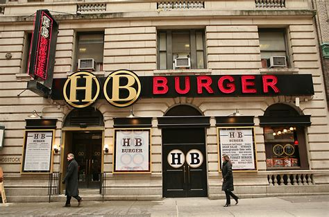 Latest Chandeliers Hb Burger Burger Restaurant In Time Square New York