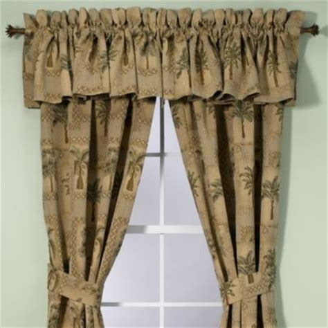 Palm Tree Curtains Drapes Palm Grove Valance Tropical Curtains By Bed Bath