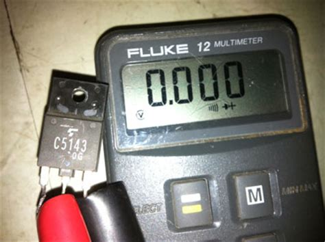 horizontal output transistor testing toshiba d29cr55 pb6643 1 arcade monitor no picture and no hi voltage