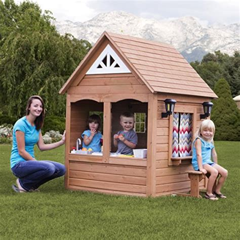backyard discovery cedar playhouse backyard discovery aspen all cedar wood playhouse toys