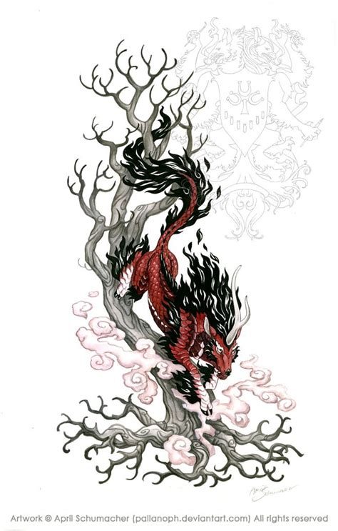 mythical dragon tattoo designs 55 best images about kirin on drawings