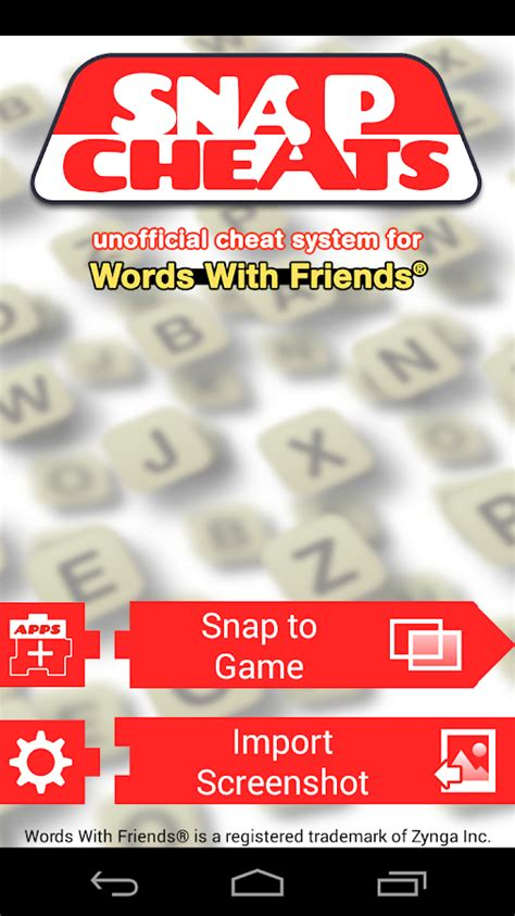 Snap Cheat: Words With Friends - Android Apps on Google Play Words With Friends Cheat List