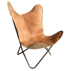 Leather Butterfly Chair by Leather Butterfly Chair Brown Delivery From