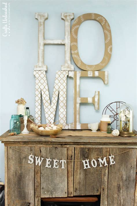 home tutorial large diy letter decor