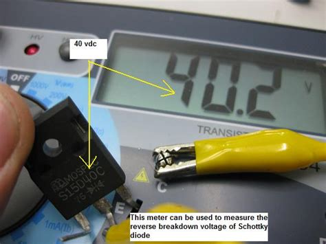 breakdown voltage schottky diode review of the dy294 digital transistor tester part 2 electronics repair and technology news