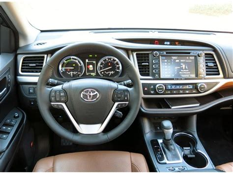 toyota highlander 2017 interior test drive new toyota highlander hybrid smooth powerful