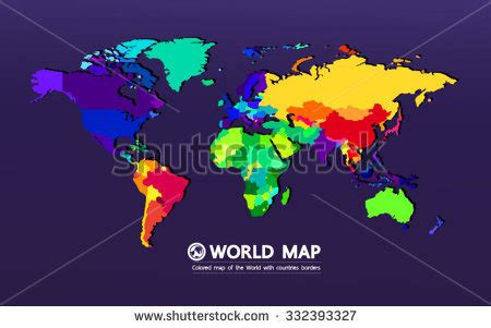 World map different colored continents illustration stock vector world map different colored continents illustration stock gumiabroncs Choice Image