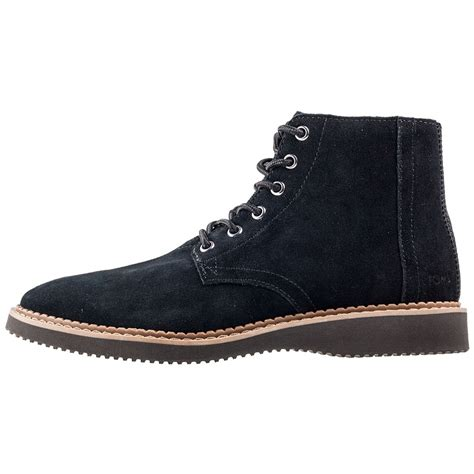tom boots mens toms porter mens boots in black