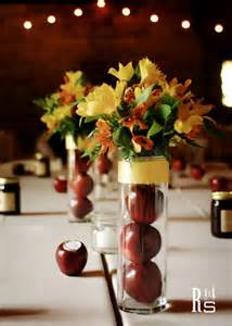 Wedding Centerpiece Branches by Real Wedding Chastin And Andrew S Apple Red Fall Wedding