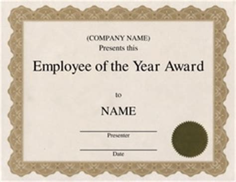 employee of the year certificate template free free award templates with wording geographics