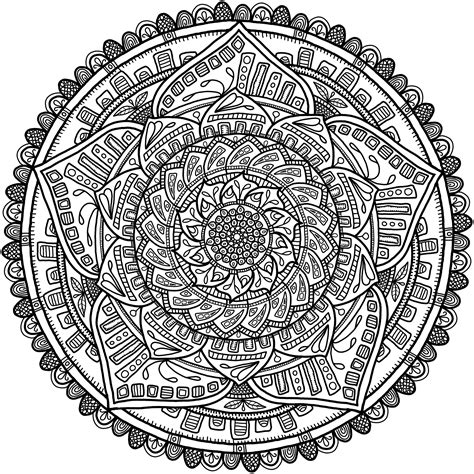 Krita Circles Mandala 6 By Welshpixie On Deviantart Mandala Circles Coloring Pages