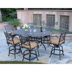 Bar Height Patio Dining Set Meadow Decor Kingston 72 In Counter Height Patio Dining Set Seats 6 Patio Dining Sets At