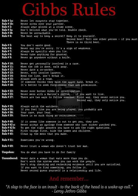 gibbs rules the complete list from ncis page 2 ncis 25 best ideas about gibbs rules on pinterest gibbs