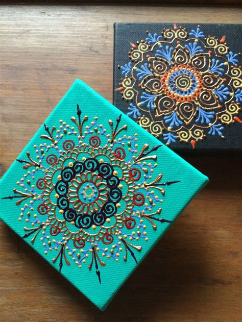 acrylic paint on canvas designs 1000 ideas about mandala painting on mandalas