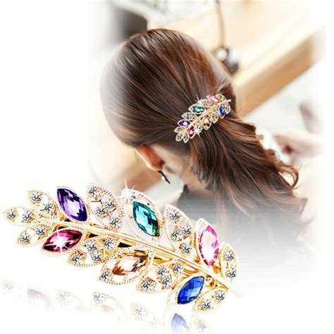 Korean Fashion Accessories Kalung Hello Kunci Glamor korean ponytail colorful rhinestone alloy hair clip flower